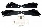 "Image may not reflect your exact vehicle! Westin® - 3"" Signature Series Black Round Step Bars Mounting Kit"