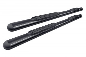 "Image may not reflect your exact vehicle!Westin® - 4"" Premier Black Oval Tube Step Bars"