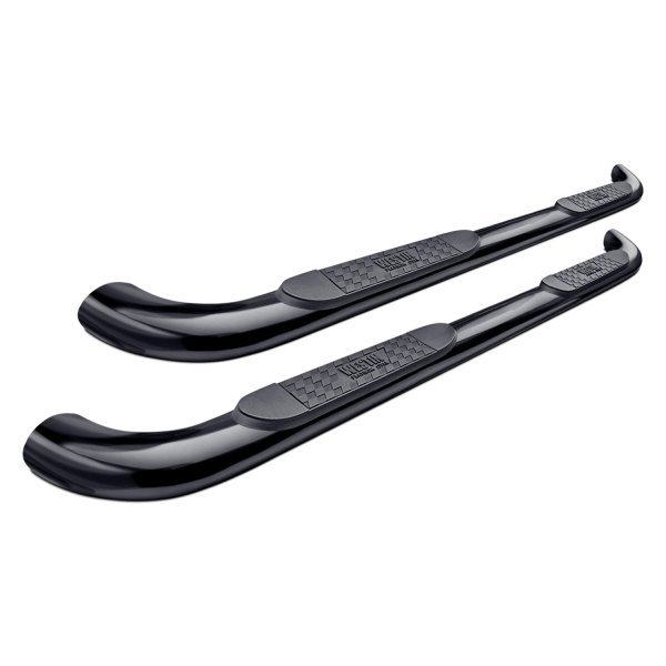 "Image may not reflect your exact vehicle! Westin® - 4"" Platinum Cab Length Black Oval Tube Step Bars"