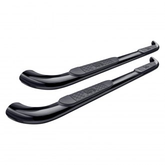 "Westin® - 4"" Platinum Cab Length Black Oval Tube Step Bars"