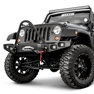 Westin® - Snyper™ Marksman Full Width Front Winch HD Bumper with Stinger