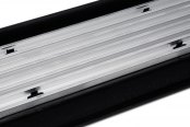 Image may not reflect your exact vehicle! Westin® - Molded Polymer Black Lighted Running Boards