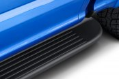 Image may not reflect your exact vehicle! Westin® - Molded Polymer Black Unlighted Running Boards Installed