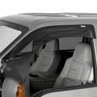 Westin® - Tape-On Wade Extra Wide Smoke Front Wind Guard