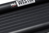 Image may not reflect your exact vehicle! Westin® - Sure-Grip Black with Black Trim Running Boards