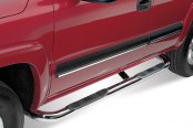 "Westin® - 3"" Signature Series Chrome Round Step Bars, Installed"