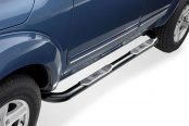 "Westin® - 3"" Signature Series Black Powdercoat Round Step Bars, Installed"