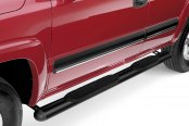 "Image may not reflect your exact vehicle! Westin® - 4"" Black Powdercoat Oval Tube Step Bars"