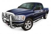 "Image may not reflect your exact vehicle! Westin® - 4"" Platinum Cab Length Polished Stainless Steel Oval Tube Step Bars"