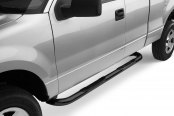 "Image may not reflect your exact vehicle! Westin® - 3"" E-Series Black Powdercoat Round Step Bars"