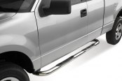 "Image may not reflect your exact vehicle! Westin® - 3"" E-Series Polished Round Step Bars Installed"