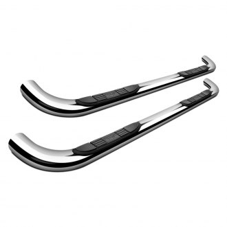 Image may not reflect your exact vehicle! Westin® - 3 E-Series Polished Stainless Steel Round Step Bars