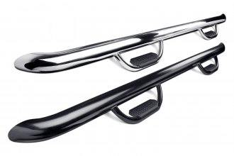 "Image may not reflect your exact vehicle! Westin® - 4"" GenX Cab Length Oval Nerf Step Bars"