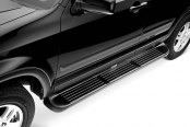 "Image may not reflect your exact vehicle! Westin® - 79"" Black Molded Polymer Unlighted Running Boards"