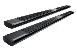 "Image may not reflect your exact vehicle! Westin® - 6"" Premier Black Powdercoat Oval Step Bars"