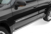 "Image may not reflect your exact vehicle! Westin® - 2.5"" Sport Stainless Steel Tube Side Bars, Installed"