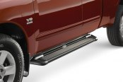 "Image may not reflect your exact vehicle! Westin® - 79"" Sure-Grip Black Running Boards with Black Trim"