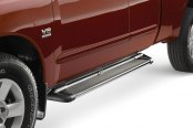 "Image may not reflect your exact vehicle! Westin® - 79"" Sure-Grip Black Running Boards with Brite Trim"