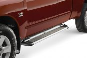 "Image may not reflect your exact vehicle! Westin® - 79"" Sure-Grip Black Running Boards with Brushed Trim"