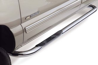 "Image may not reflect your exact vehicle! WESTIN� - 3"" Platinum Round SS Step Bars - Installed"
