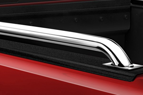 Image may not reflect your exact vehicle! Westin® - Platinum Series Universal Oval Bed Rails, Installed