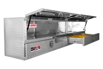 Westin® - Brute™ Aluminum High Capacity Stake Bed Contractor TopSider Tool Box with Bottom Drawers