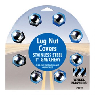 "Wheel Masters® - 1-1/2"" 22.5"" wheels Stainless Steel Lug Nut Covers"