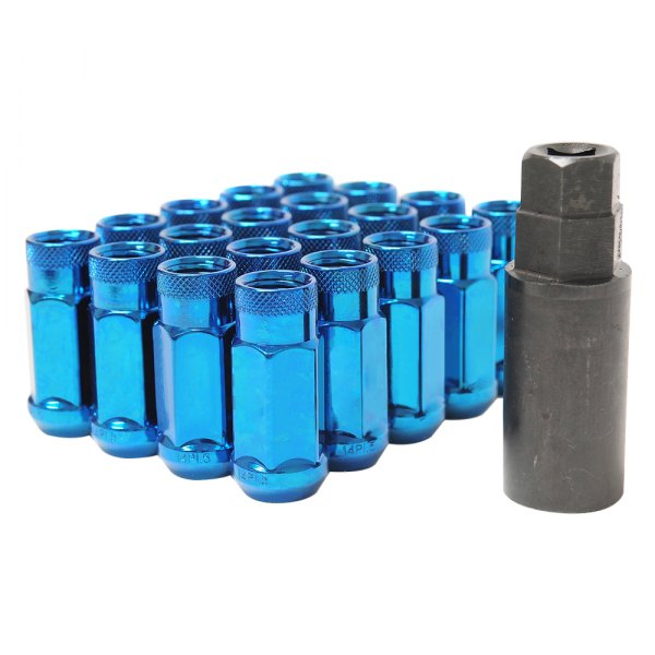 Wheel Mate® - Monster Blue Cone Seat Open End Lug Nuts