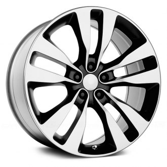 WHEEL REPLICAS® - 2012 CHARGER SRT 8 Black with Machined Face