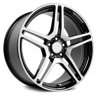 WHEEL REPLICAS® - CL65 Gunmetal with Machined Face