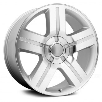 WHEEL REPLICAS® - TEXAS EDITION Silver with Machined Face