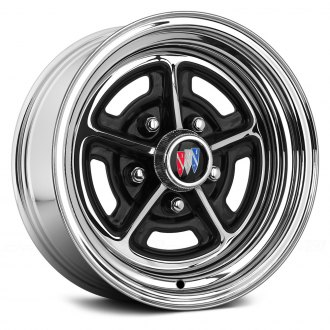 WHEEL VINTIQUES® - BUICK RALLY Chrome with Semi Gloss Black Windows