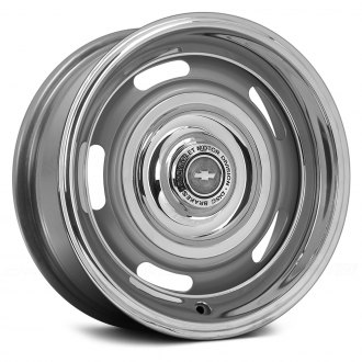 WHEEL VINTIQUES® - CORVETTE STYLE RALLYE Powder Coated Silver