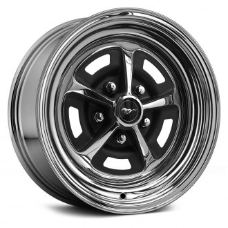 WHEEL VINTIQUES® - MAGNUM 500 Chrome with Semi Gloss Black Windows