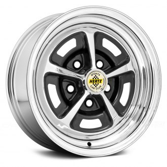 WHEEL VINTIQUES® - MAGNUM 500 HERTZ Chrome with Semi Gloss Black Windows