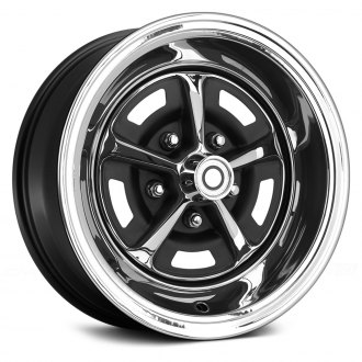 WHEEL VINTIQUES® - MAGNUM 500 ROAD WHEEL Chrome with Black Windows