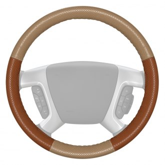 Wheelskins® - EuroPerf Perforated Sand Steering Wheel Cover with Tan Sides Color