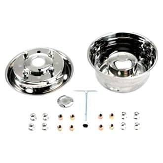 "White Knight® - 19.5"" 4 Hand Holes Stainless Steel Wheel Simulators"