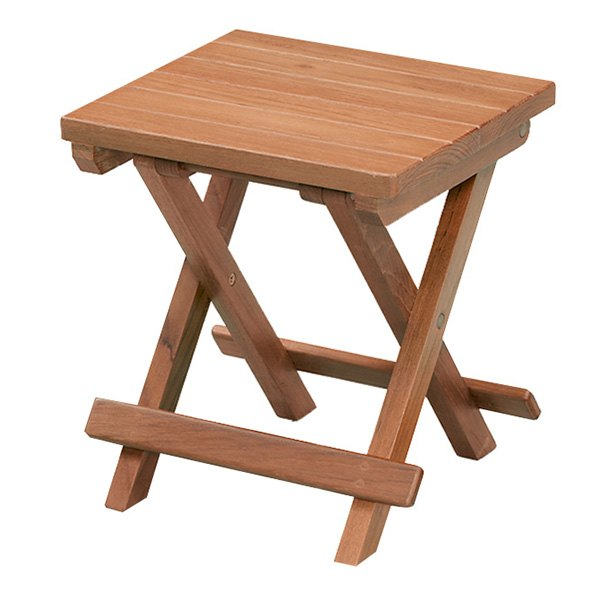 Whitecap 60034 teak grooved top fold away table stool - Fold away table ...