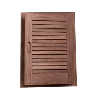 "Whitecap® - Teak Louvered Door and Frame 15""x20"" Right Hand"