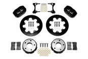 Wilwood® - Dynapro Radial Front Drag Brake Kit with Black Anodized Calipers