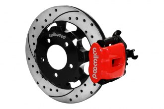 Wilwood® 140-11979-DR - Combination Parking Brake Caliper Rear Brake Kit with Red Powder Coated Calipers