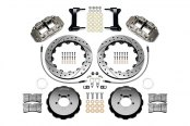 Wilwood® - Forged Narrow Superlite 6R Big Brake Front Brake Kit with Hat with Nickel Plate Calipers