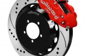 Wilwood® - Forged Narrow Superlite 6R Big Brake Front Brake Kit with Hat with Red Powder Coated Calipers