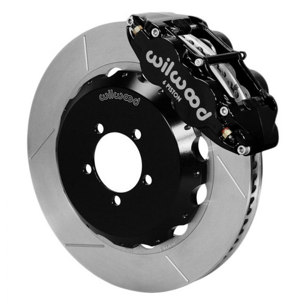 Wilwood® - Forged Narrow Superlite 6R Big Brake Front Brake Kit with Hat with Black Powder Coated Calipers