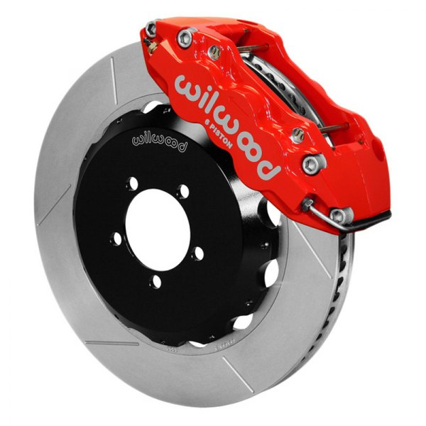 Wilwood® - W6A Big Brake Front Brake Kit with Red Powder Coated Calipers