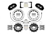 Wilwood® - Forged Narrow Superlite 4R Big Brake Rear Brake Kit For OE Parking Brake with Black Powder Coated Calipers