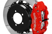 Wilwood® - Forged Narrow Superlite 4R Big Brake Rear Brake Kit For OE Parking Brake with Red Powder Coated Calipers