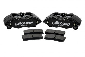Wilwood® 140-13029 - Forged DPHA 4-Pistons Black Powder Coated Front Caliper Kit