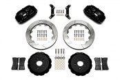 Wilwood® - Superlite 6 Big Brake Front Brake Kit with Hat with Black Anodized Calipers